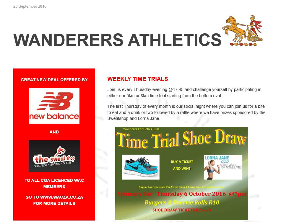 wanderers club Athletics News 1