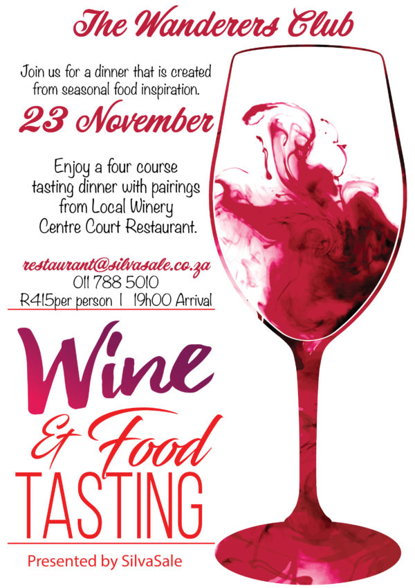 wanderers club Food & Wine Tasting 1