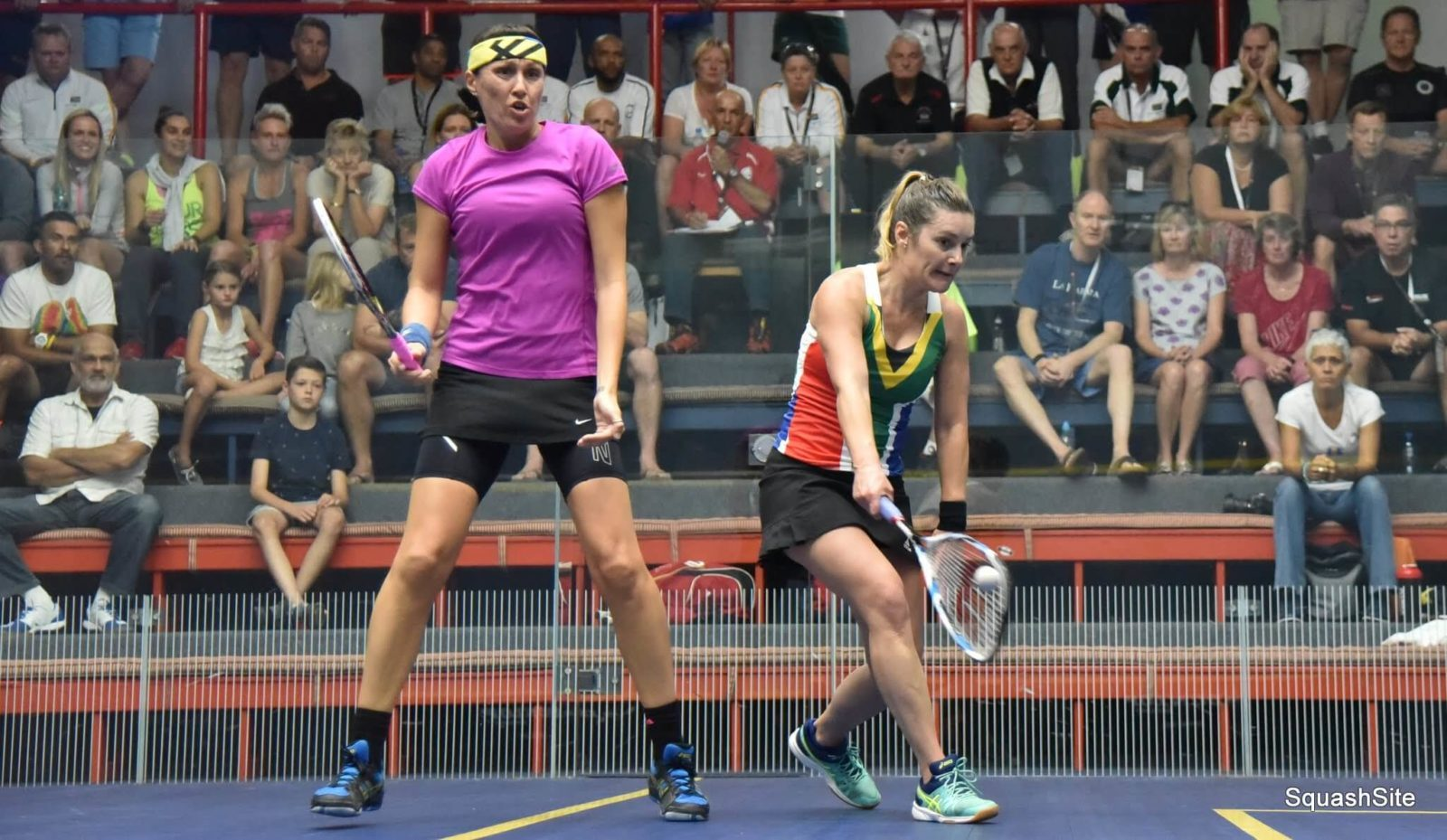 players competing on Wanderers squash courts