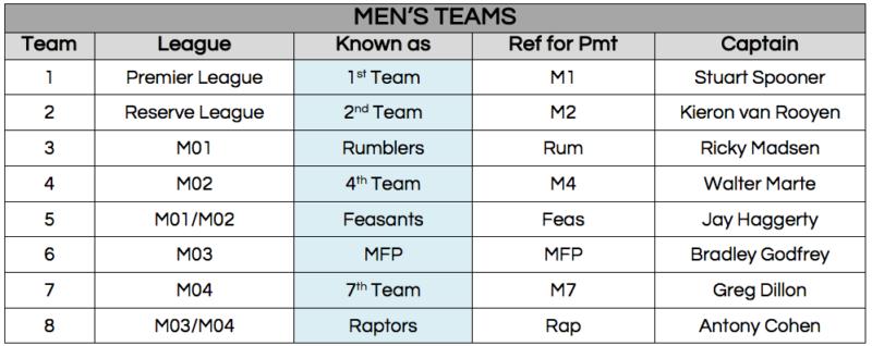 mens teams