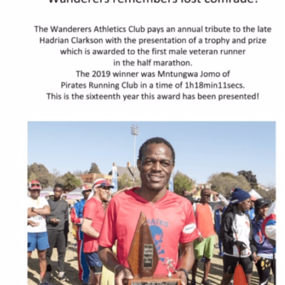 wanderers club Athletics News Update: August 2019 8