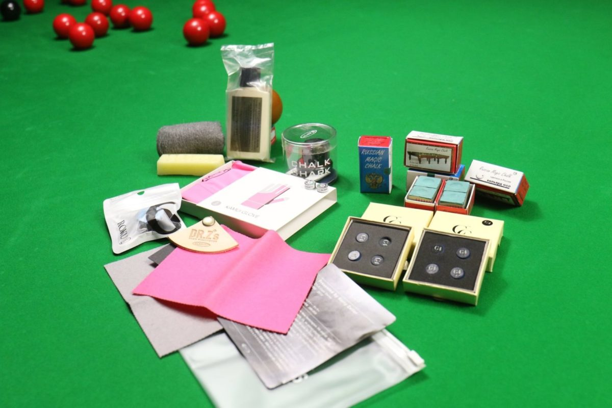 Kamui Hamper, Mike Wooldridge Cue Care Kit, Russian Magic Chalk & Century Tips