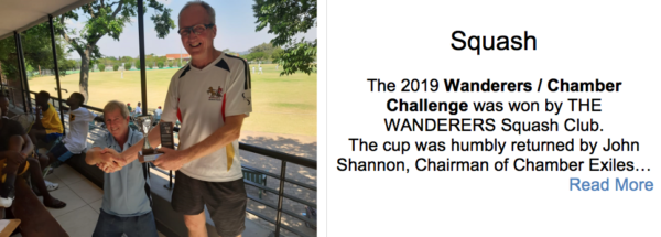 wanderers club Squash News, October 2019 1