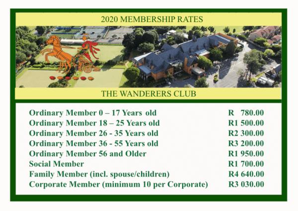 Membership fees 2020
