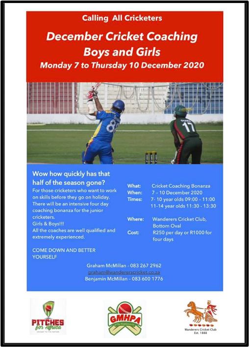 wanderers club Cricket News - November 2020 11
