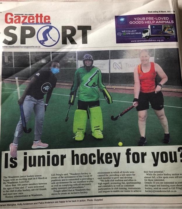 wanderers club Wanderers Hockey News March 2021 19